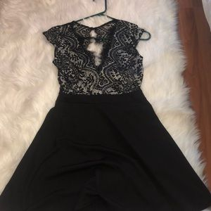 Black Lace Cocktail Dress!